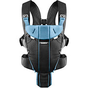 Нагрудная сумка Babybjorn Miracle Black/Light Blue Cotton Mix