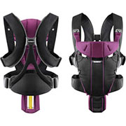Нагрудная сумка Babybjorn Miracle Black/Purple Cotton Mix
