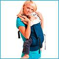 Слинг-рюкзак  с принтом бабочки  I love mum